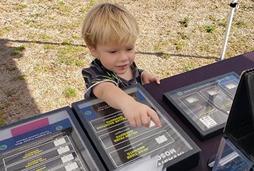 child at ecofest